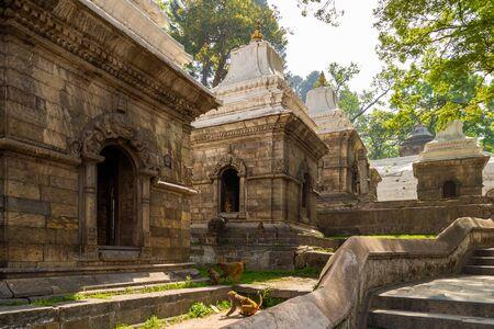 The Pandra Shivalaya located on Bagmati river opposite Pashupatinath Temple in Kathmandu, Nepal