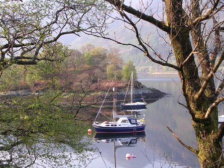 Yacht sailing at Loch Lomond  photo
