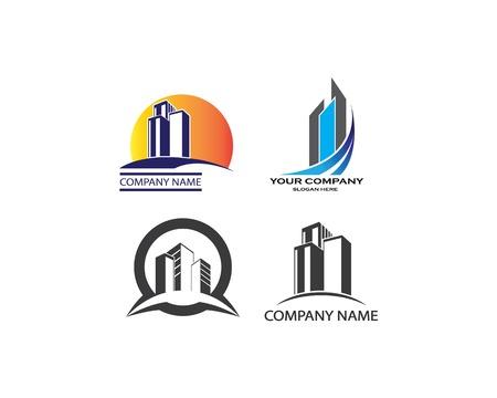 illustrazione del logo del modello vettoriale immobiliare
