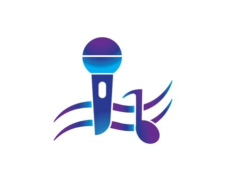 microphone icon vector template Ilustrace