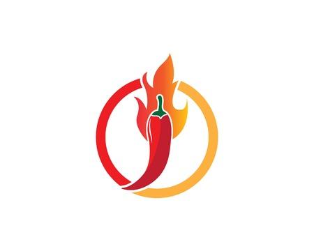 Chili logo vector template illustration