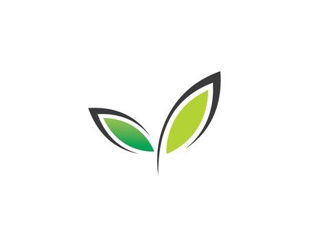 Tree leaf vector logo design, eco-friendly concept. Ilustracja