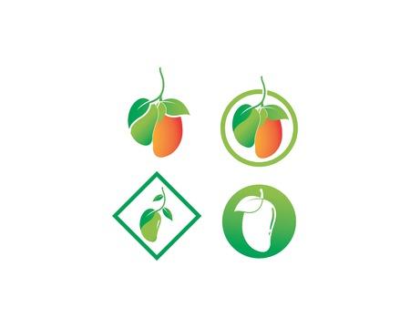 mango icon logo vector template