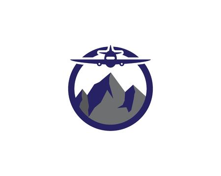 Mountains Logo Template vector 일러스트