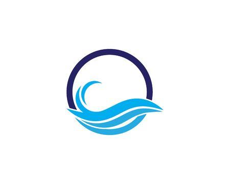 Water Wave symbol and icon Logo Template vector Banco de Imagens - 119516894