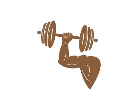 gym,fitness illustration vector template for body builder