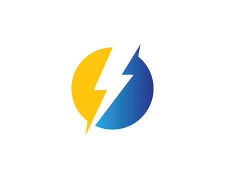 flash power of energy and electric illustration design