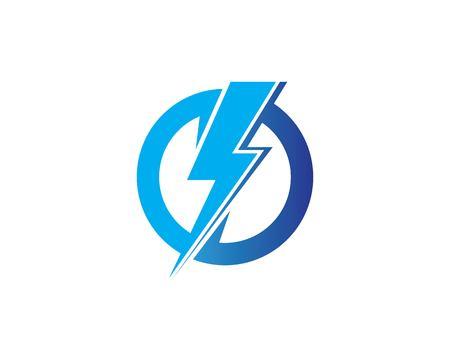 flash power of energy and electric illustration design Standard-Bild - 119517848