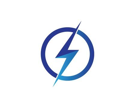 flash power of energy and electric illustration design Ilustración de vector