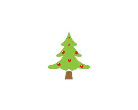 cristmas tree illustration vector template