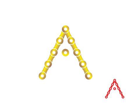 letter A logo  chain concept illustration