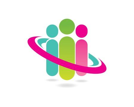 Adoption and community care Logo template icon Illusztráció