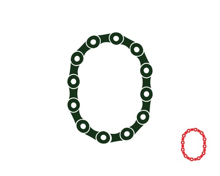 letter O  logo chain concept illustration Ilustrace