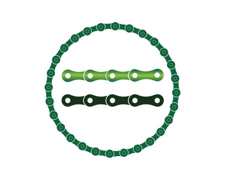 chain logo concept illustration template Ilustrace