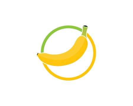 Banana logo vector illustration design Çizim