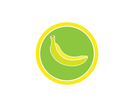 Banana logo vector illustration design Çizim