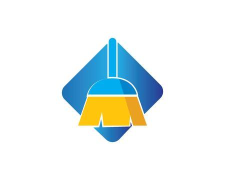 Besenillustrationsvektorschablone, Symbol des Reinigers Vektorgrafik