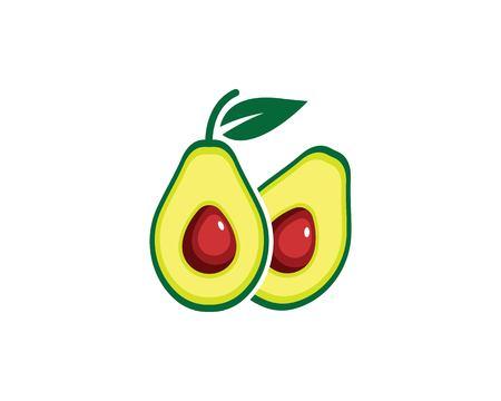 avocado illustration vector template  design