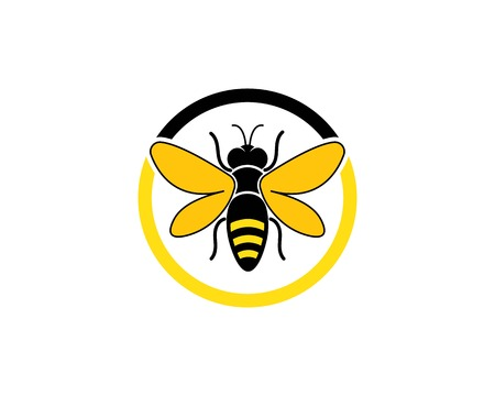 honey Bee Logo Template vector icon illustration design