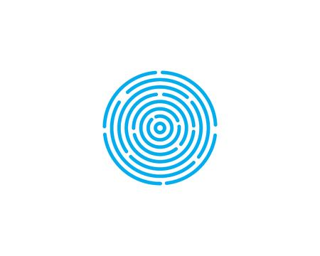 fingerprint illustration vector template design