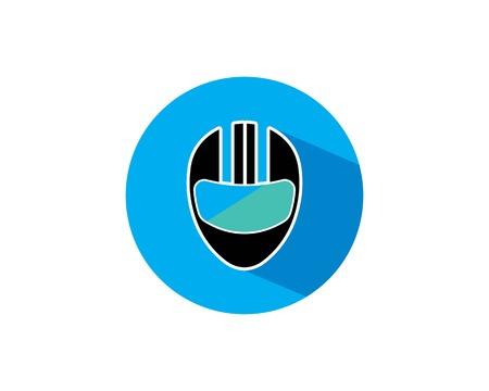 helmet vector icon logo illustration template