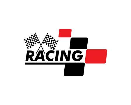 racing flag icon of automotif illustration vector template Vetores