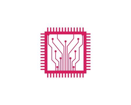 circuit board line cpu,ic,gpu,ram concept design illustration template