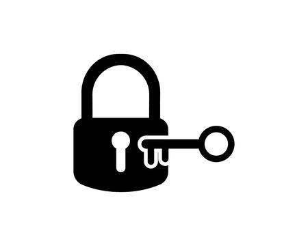 lock icon logo vector template ilustration Logo