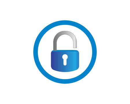 lock icon logo vector template ilustration