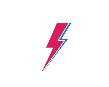 flash power thunder illustration vector template Standard-Bild - 119535557