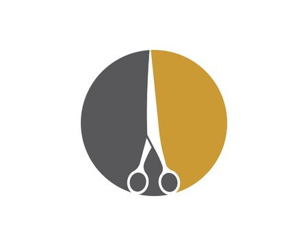 scissor icon logo vector illustration template