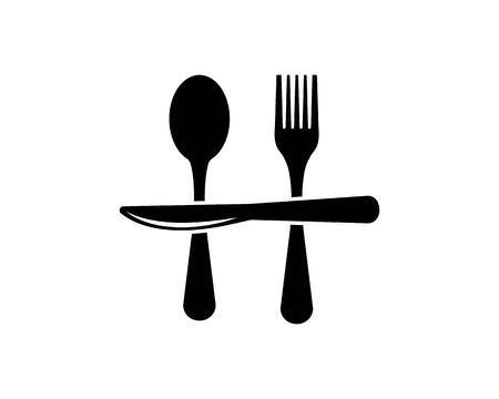 fork,knife logo vector illustration template 写真素材 - 119535605