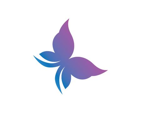 butterfly logo vector template design illustration 向量圖像