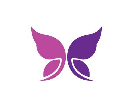 butterfly logo vector template design illustration Vectores