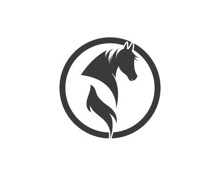 Diseño de ilustración de Vector de plantilla de logotipo de caballo