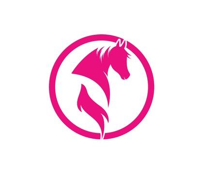Horse Logo Template Vector illustration design 向量圖像