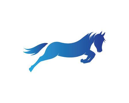Conception d'illustration vectorielle de modèle de logo de cheval Logo