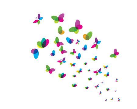 butterfly logo vector template design Illustration