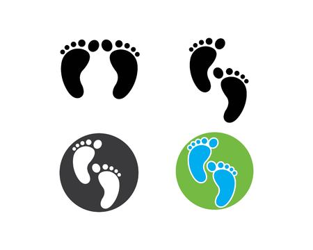foot logo icon vector template 向量圖像
