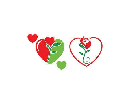 Rose flower Logo Template illustration