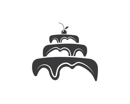 Modèle d'illustration vectorielle de logo de gâteau Logo