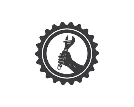 wrench icon vector of automotive service illustration template
