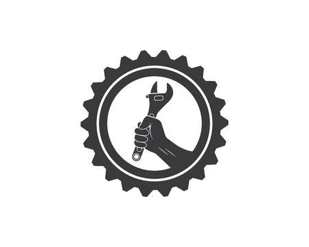 vecteur d'icône de clé du modèle d'illustration de service automobile
