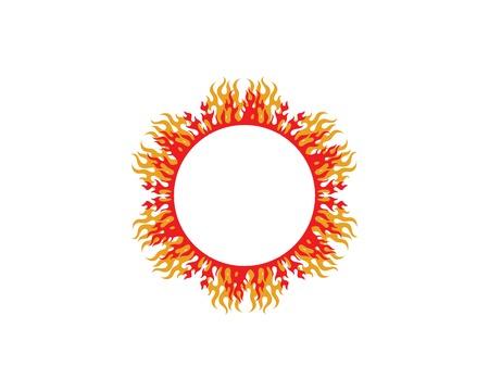 sun ilustration logo vector icon template design