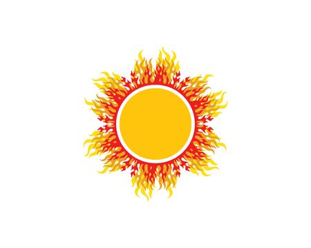 sun ilustration logo vector icon template design Banque d'images - 119835964