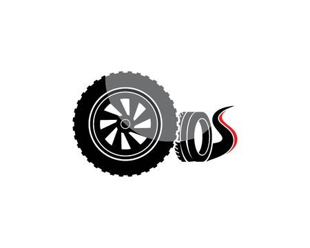 tire illustration vector template design Illustration