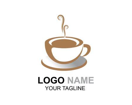 Diseño de icono de vector de plantilla de logotipo de taza de café Logos