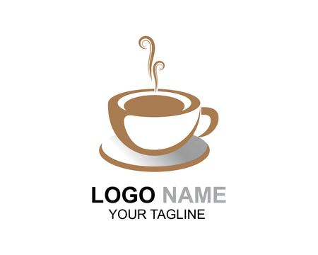 Koffiekopje Logo sjabloon vector pictogram ontwerp Logo