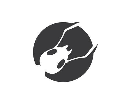 ant logo icon vector illustration design template
