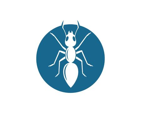 ant logo icon vector illustration design template